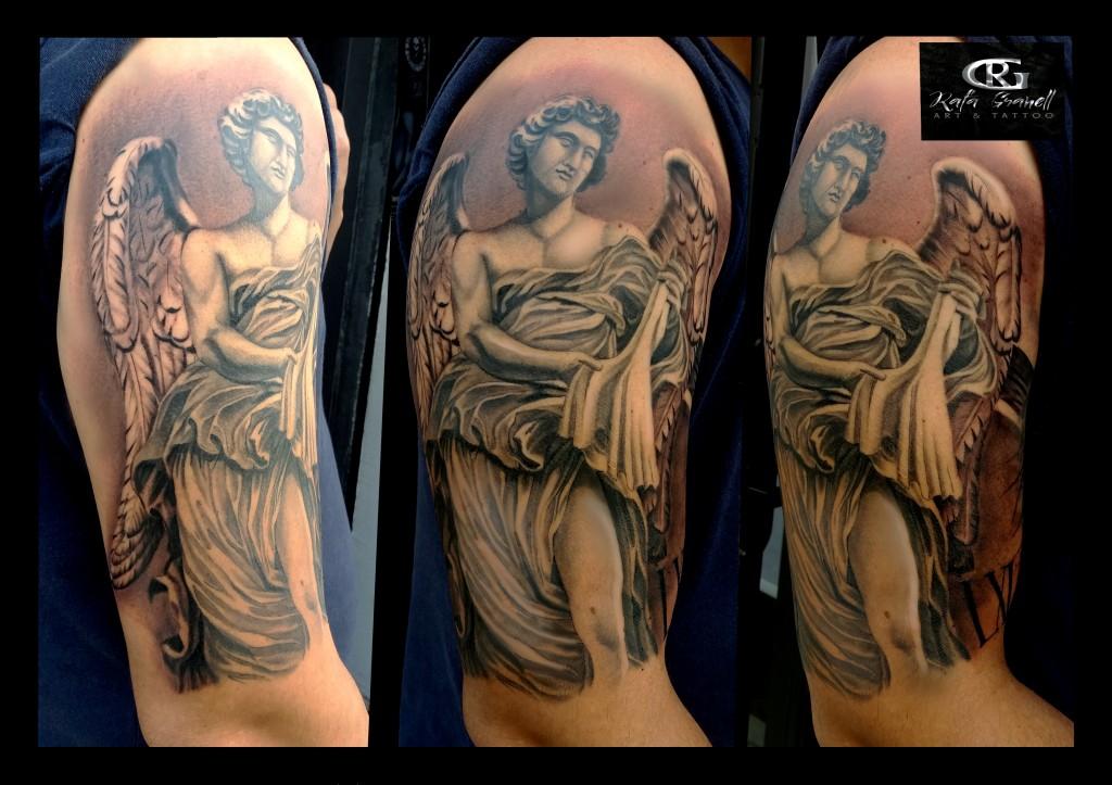 esculturas#escultura#angeles#bernini#roma#tatuajes#realistas#tattoo#realismo#blanco y negro#rgtattoo#tatuador#valenciano#tatuajes#valencia#