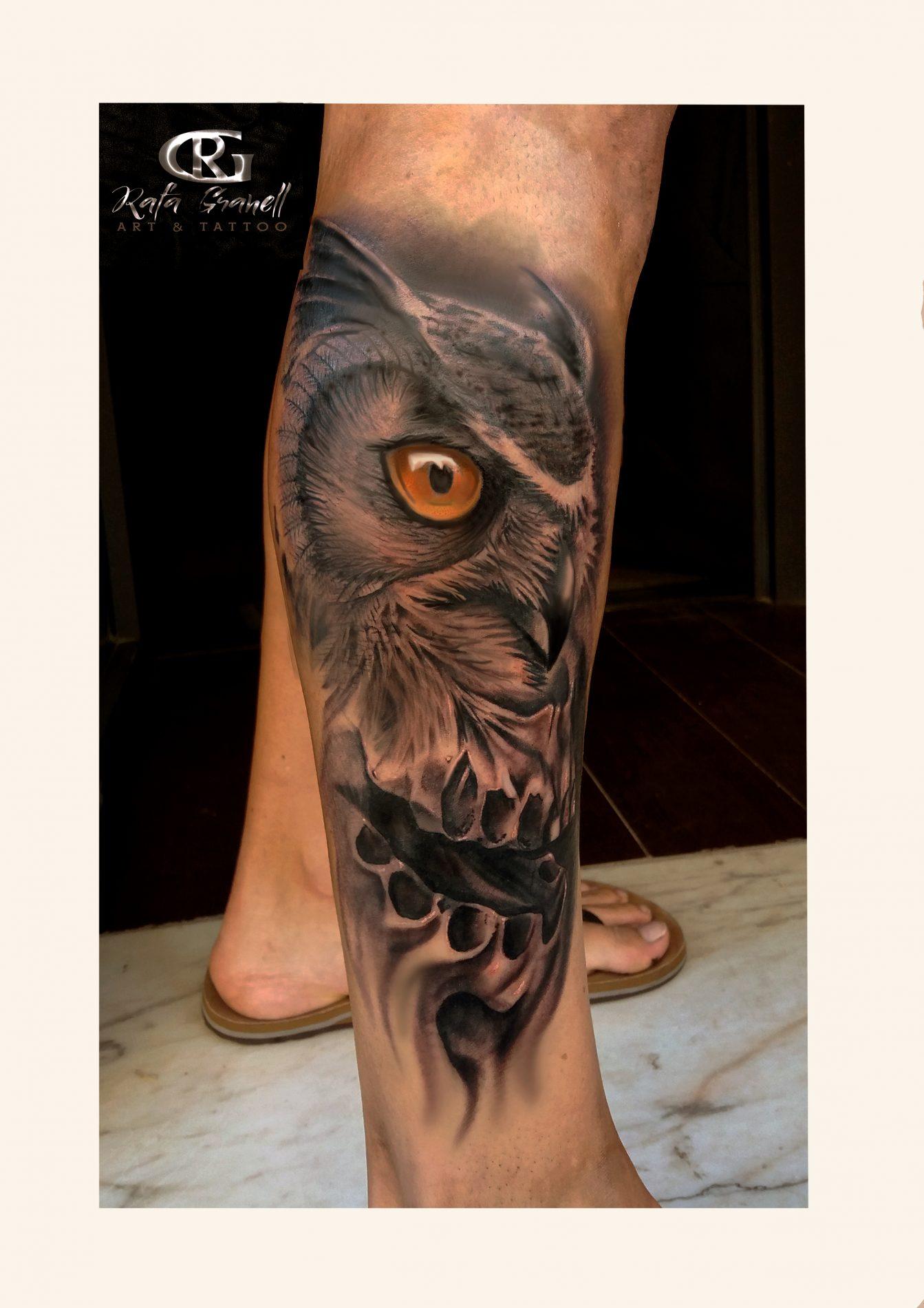 buho#calavera#realista#realismo#tatuajes#realistas#tattoo#blanco y negro#tatuador#valenciano#tatuadores#españoles#valencia#rgtattoo#rafa#granell#la torre#