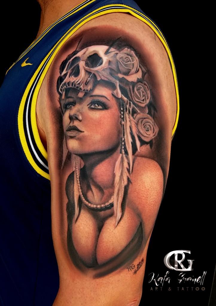 catrinas#chica#calaveras#chicana#tatuaje#tattoo#tatuajes#tattoos#blanco y negro#realismo#realistas#realista#tatuadores#tatuador#españoles#valencianos#valencia#rgtattoo#rafa#granell#brazos#brazo#mejores#rosas#plumas#pechos#la torre#mundo#