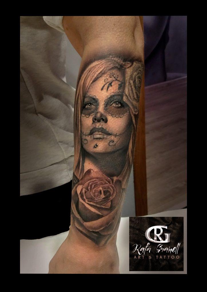 catrinas#chicanas#rosas#tatuajes#realistas#valencia#blanco#negro#tattoo#realista#retratos#tatuador#valenciano#español#mejores#tatuadores#rafa#granell#rgtattoo#