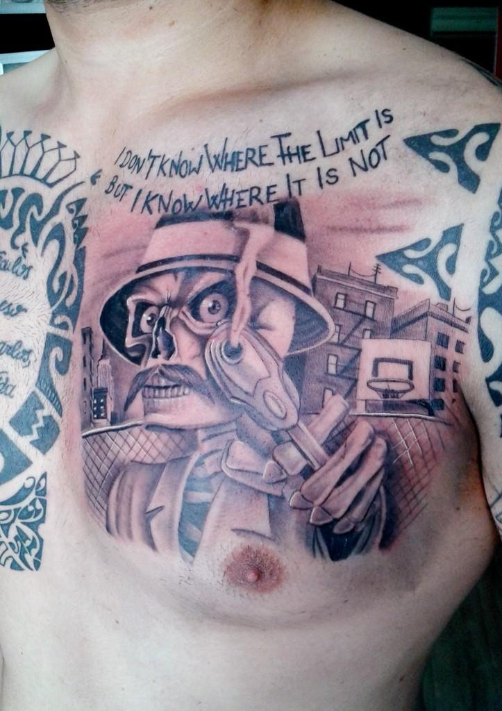 calavera#ganster#capo#tattoo#tatuador# valenciano#rafagranelltattoo#black and grey#pistola#REALISTAS#CHICANO#STILE#ESTILO#REALISMO#REALISTAS